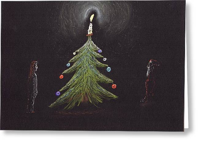 Candle Lit Drawings Greeting Cards - Illuminated Greeting Card by Jim Taylor