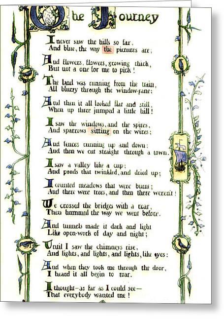Illuminated Poem 1903 Greeting Card by Padre Art