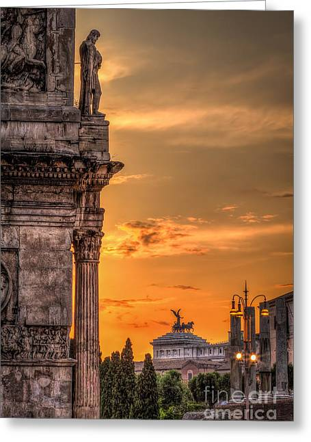 Fora Greeting Cards - Illuminati Rome Greeting Card by Erik Brede