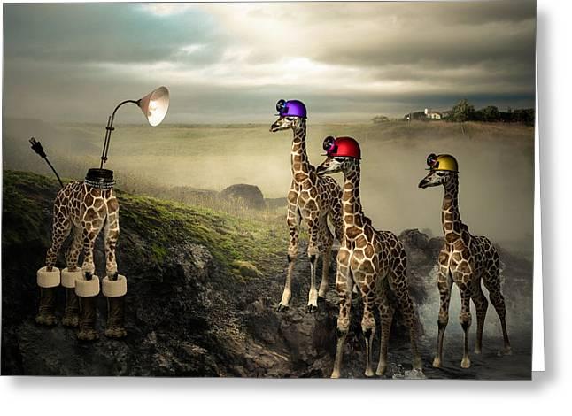 Leg Lamp Greeting Cards - Illuminating Greeting Card by Randy Turnbow