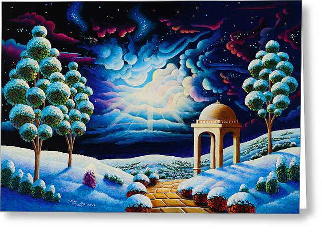 Imagined Landscape Greeting Cards - Illumination 2 Greeting Card by Andy Russell