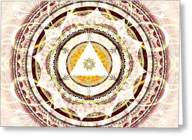 Graphics Greeting Cards - Illumination Circle Greeting Card by Anastasiya Malakhova