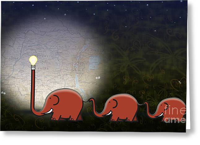 Jungle Animals Greeting Cards - Illumination Greeting Card by Sassan Filsoof
