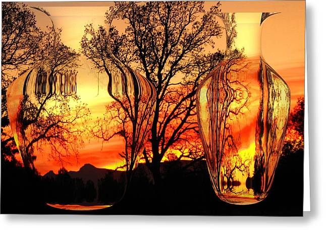 Numbers Plus Photography Digital Greeting Cards - Illusion Greeting Card by Joyce Dickens