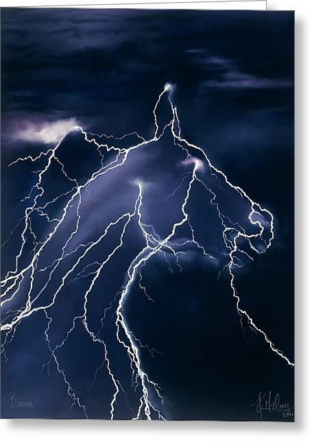 Images Lightning Pastels Greeting Cards - Illusion Greeting Card by Kim McElroy