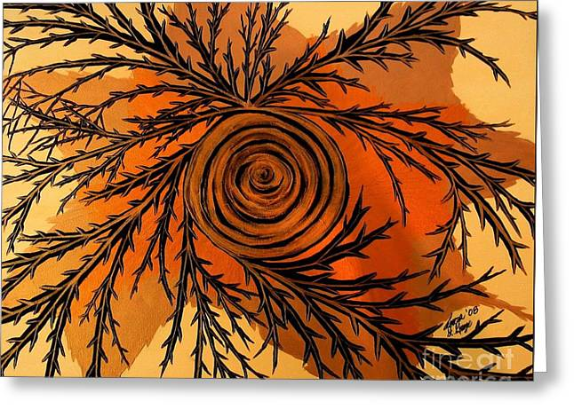 Illusion Of Pain Greeting Card by Teresa St George