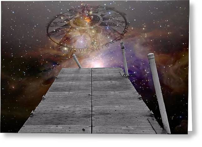 Quasars Greeting Cards - Illusion Of Time Greeting Card by Dan Sproul