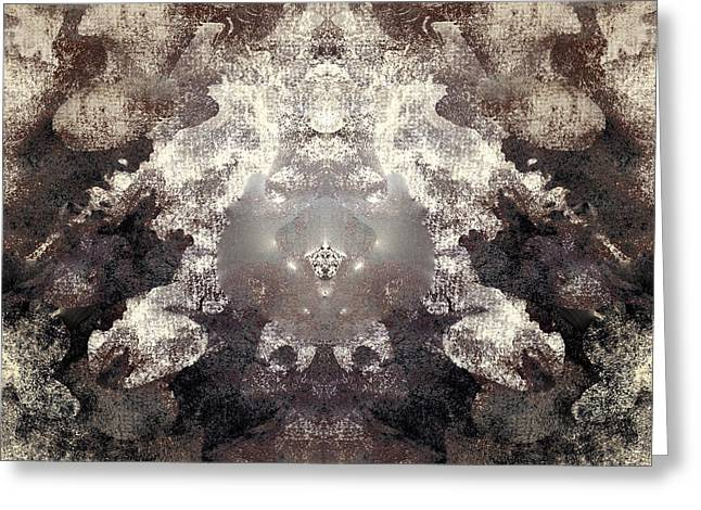Illusions Of Smoke Greeting Card by Melissa Bittinger