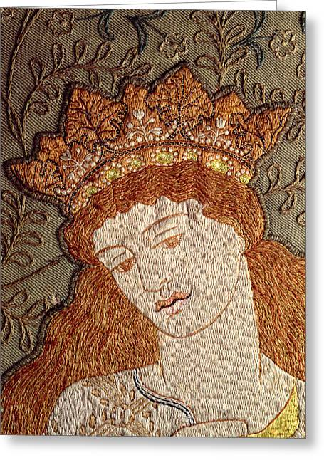 Arts And Crafts Greeting Cards - Illustration From Geoffrey Chaucers Legend Of Good Women C.1875 Tapestry Greeting Card by William Morris