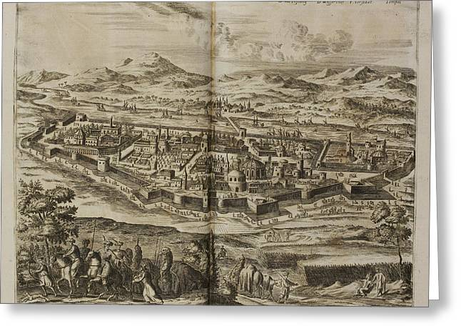 Illustration Of Baghdad In The 17th Centu Greeting Card by British Library