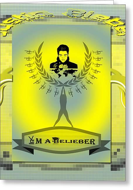 Justin Bieber Digital Art Greeting Cards - Im A Belieber Greeting Card by Museum Quality Prints -  Trademark Art Designs