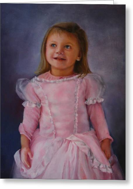 Princess Pastels Greeting Cards - Im a Princess Greeting Card by Kim Brecklein