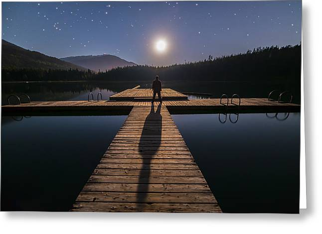 Twinkle Greeting Cards - Im Being Followed by a Moonshadow Greeting Card by James Wheeler
