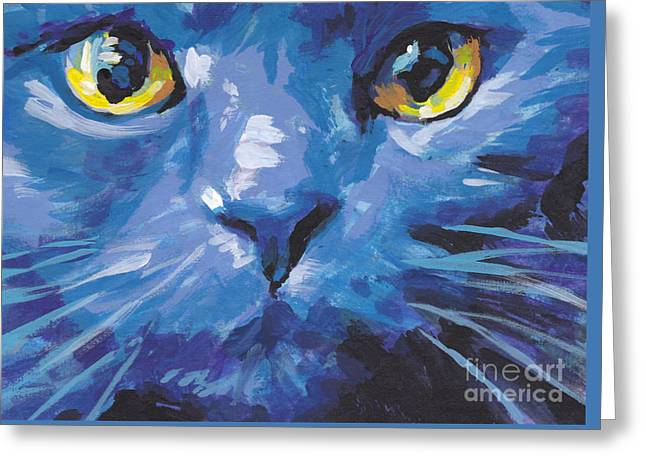 Modern Russian Art Greeting Cards - Im Blue Greeting Card by Lea