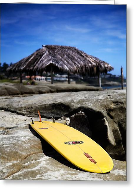 La Jolla Surfers Greeting Cards - Im Board Greeting Card by Peter Tellone
