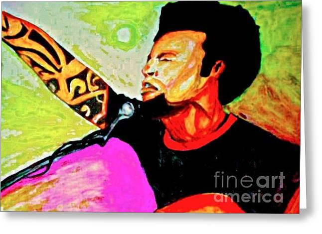 Ben Harper Greeting Cards - Im gonna burn one down Greeting Card by Funk Art