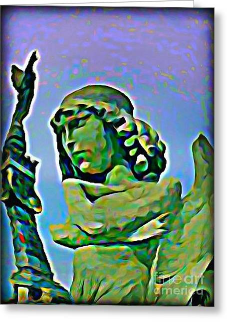 Quite Digital Art Greeting Cards - Im Not Quite Sure What You Mean Greeting Card by John Malone