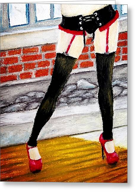High Heeled Pastels Greeting Cards - Im Waiting Greeting Card by James Patrick