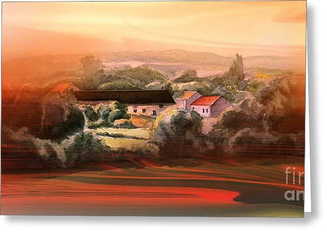 Lanscape Digital Greeting Cards - Image dream 1 Greeting Card by Christian Simonian