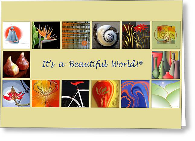 Promotional Greeting Cards - Image Mosaic - Promotional Collage Greeting Card by Ben and Raisa Gertsberg