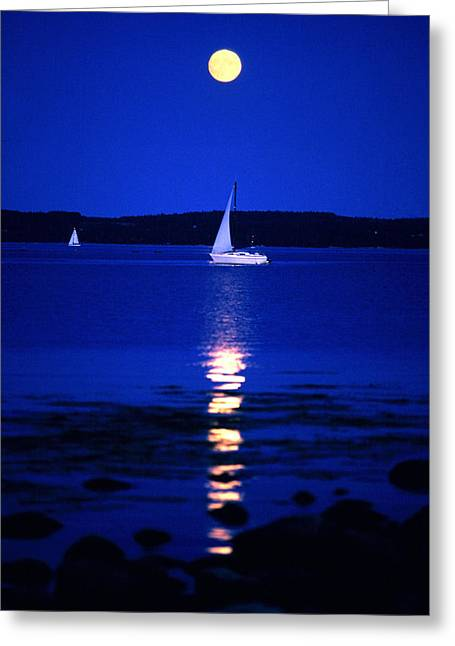 Reflexions Greeting Cards - Imageworks Photographic Sailboat Out On Greeting Card by Imageworks Photographic