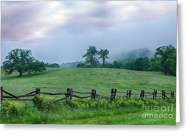 Imaginary Morning on the Blue Ridge I Greeting Card by Dan Carmichael