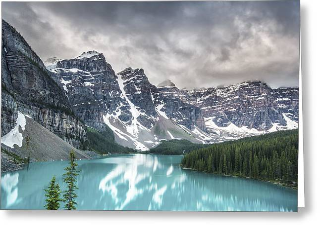 Snow Capped Photographs Greeting Cards - Imaginary Waters Greeting Card by Jon Glaser