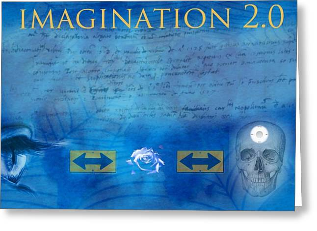 Diskrid Art Greeting Cards - Imagination 2.0 Greeting Card by Diskrid Art