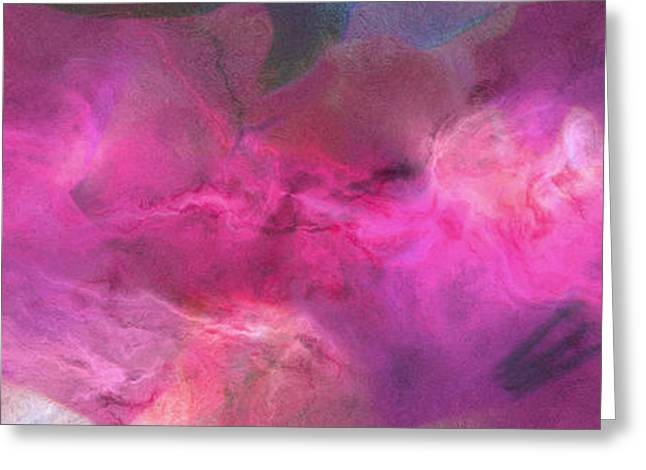 Abstract Art On Canvas Greeting Cards - Imagination In Ruby Fire - Abstract Art Greeting Card by Jaison Cianelli