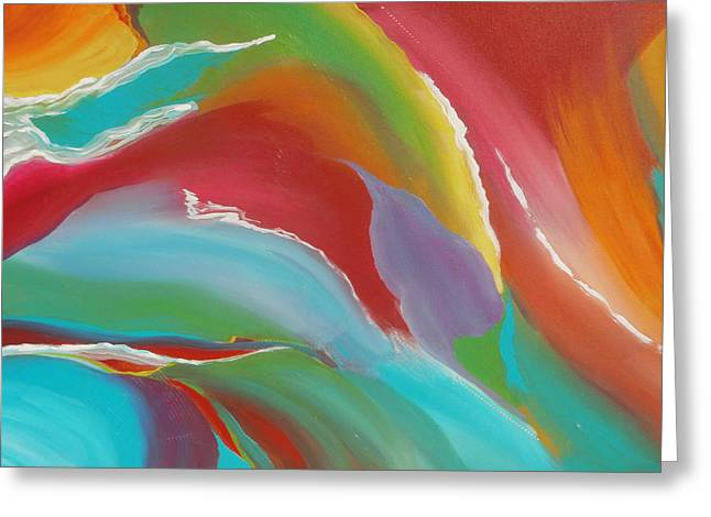 Heartbeat Paintings Greeting Cards - Imagination Greeting Card by Karyn Robinson