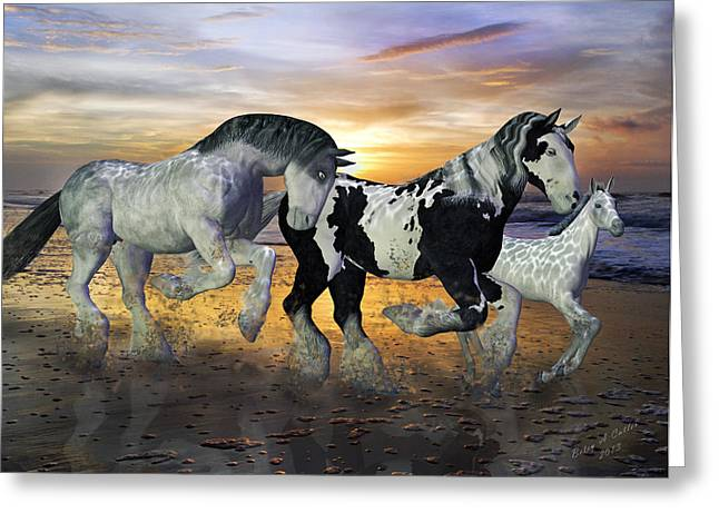 Imagination on the Run Greeting Card by Betsy C  Knapp