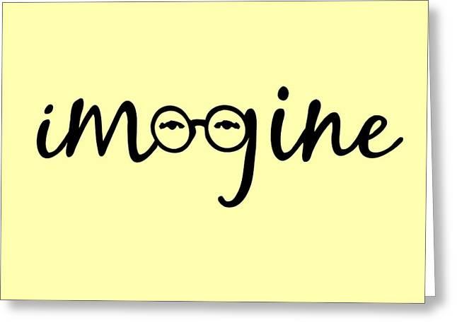 Top Selling Digital Art Greeting Cards - Imagine - John Lennon  Tribute Greeting Card by Denis Marsili