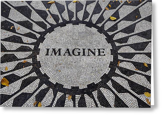 Peace Symbol Greeting Cards - Imagine a world of peace Greeting Card by Garry Gay