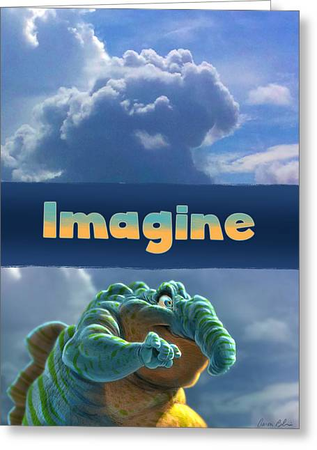 Imagine Greeting Cards - Imagine Greeting Card by Aaron Blaise