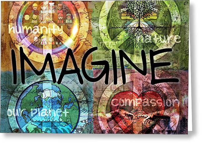 IMAGINE Greeting Card by Evie Cook