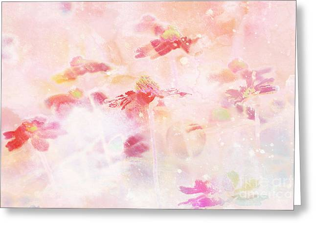 Pink Digital Greeting Cards - Imagine - f11v04b Greeting Card by Variance Collections