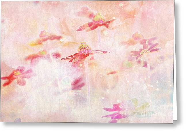 Pink Pastels Greeting Cards - Imagine - f11v04bt01 Greeting Card by Variance Collections