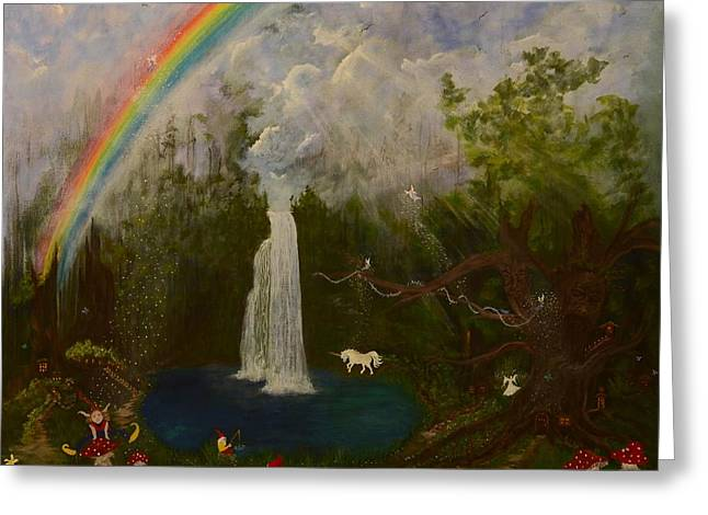 Ent Paintings Greeting Cards - Imagine Greeting Card by Judy M Watts-Rohanna