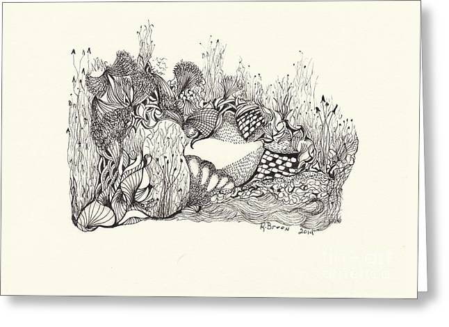 Forest Floor Drawings Greeting Cards - Imagine Greeting Card by Ronda Breen