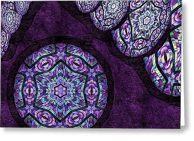 Geometric Digital Art Greeting Cards - Imagine This Greeting Card by Susan Maxwell Schmidt
