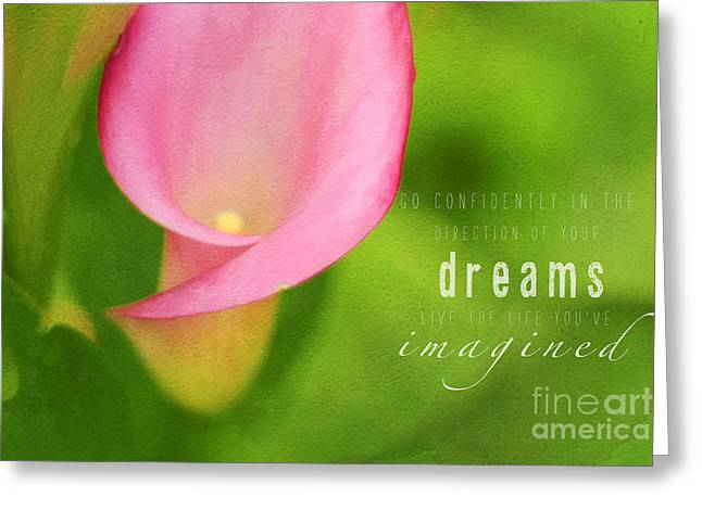 Day Lilly Greeting Cards - Imagined Greeting Card by Darren Fisher