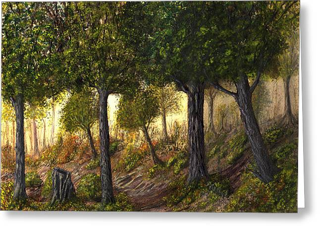 Theater Greeting Cards - Imagined Forest II Greeting Card by Carmen Paris