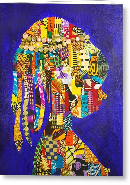 Imani Greeting Card by Apanaki Temitayo M