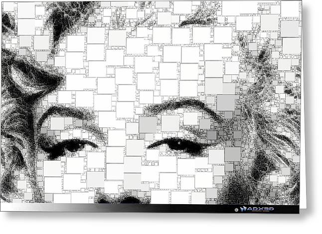 How To Marry A Millionaire Greeting Cards - iMarilyn 009 Greeting Card by ADX ThreeD