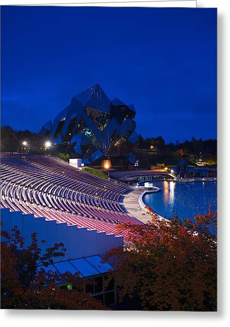 Theme Parks Greeting Cards - Imax Theater, Futuroscope Science Park Greeting Card by Panoramic Images