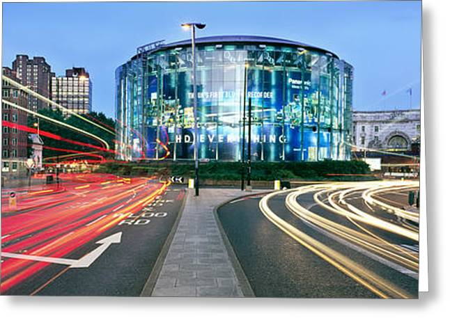 Light Trails Greeting Cards - IMAX Waterloo Greeting Card by Rod McLean