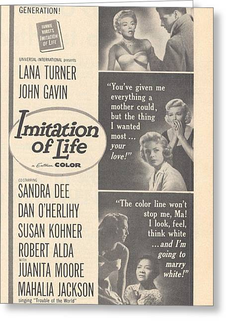 1959 Movies Greeting Cards - Imitation of Life 1959 Greeting Card by Douglas Settle