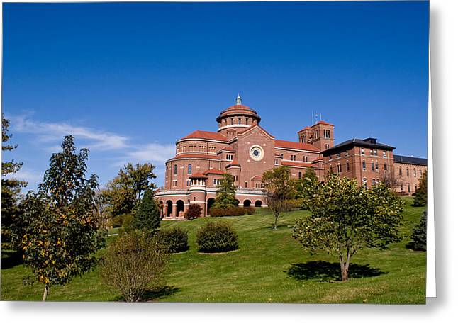 Indiana Landscapes Greeting Cards - Immaculate Conception Monastery Greeting Card by Sandy Keeton