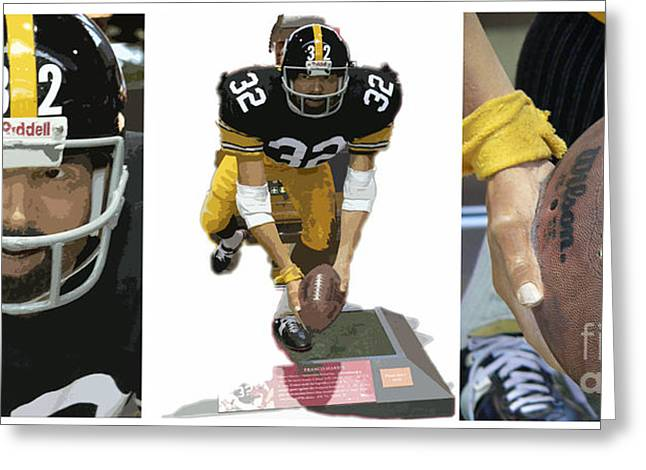Franco Harris Greeting Cards - Immaculate Franco Greeting Card by David Bearden