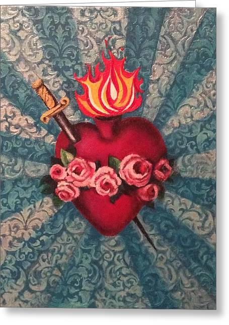 Immaculate Heart Greeting Cards - Immaculate Heart Greeting Card by Terri M Hanson